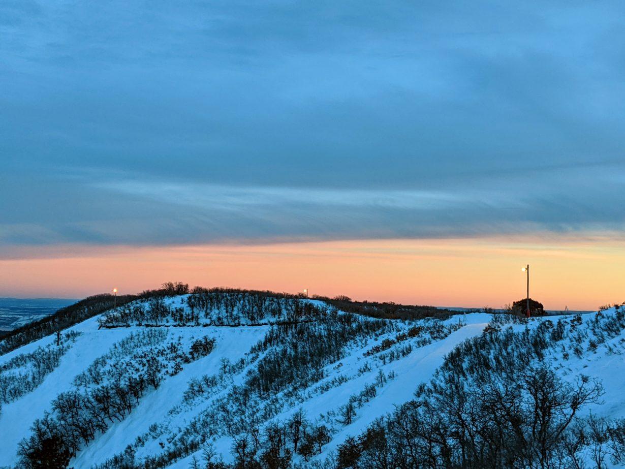 The sun setting over Hesperus